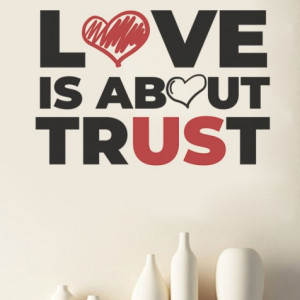 Sticker De Perete Love Is About Trust