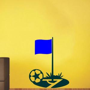 Sticker De Perete Minge De Fotbal (In Doua Culori)
