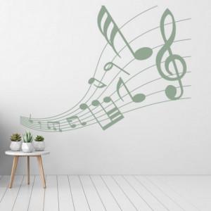 Sticker de Perete Music Notes Musical Score