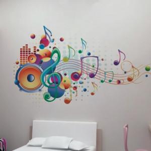 Sticker De Perete Muzica In Culori