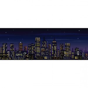 Sticker de Perete Noaptea in Oras