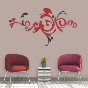 Sticker De Perete Ornament Floral 02