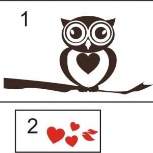Sticker De Perete Owl Love