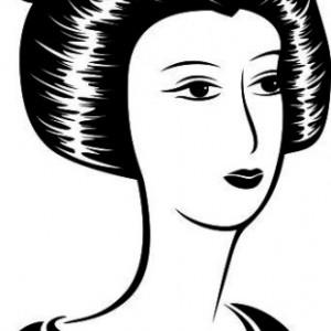 Sticker De Perete Portret De Femeie