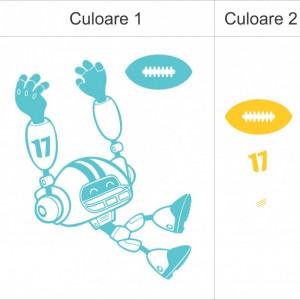 Sticker De Perete Robotel (In Doua Culori)