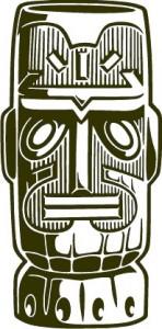 Sticker De Perete Statueta Exotica 7