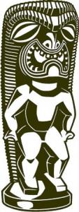 Sticker De Perete Statueta Exotica 9