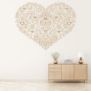 Sticker Heart Centrepiece Spiral Love