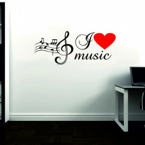 Sticker I Love Music