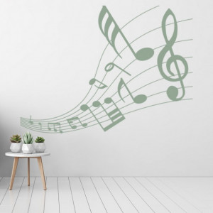 Sticker Music Notes Musical Score