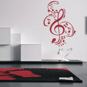 Sticker Muzical Cheia Sol