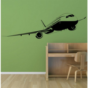 Sticker Passenger Plane Commercial Airplane