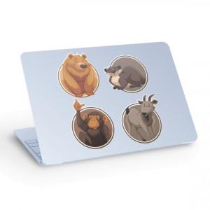Sticker pentru Laptop - Urs Maimuta Castor Capra