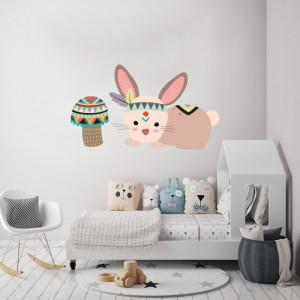 Sticker Rabbit and mushroom