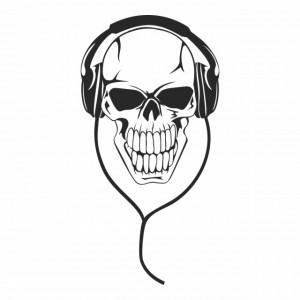 Sticker Skull Headphones