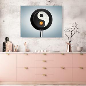 Tablou Bucatarie - Yin Yang Omlette