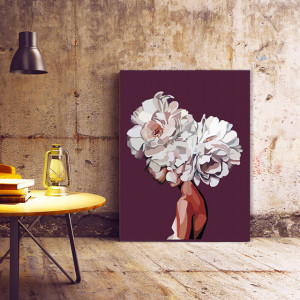 Tablou Canvas Abstract Hiden Lady