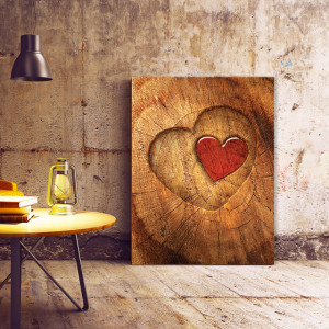 Tablou Canvas Carved Heart