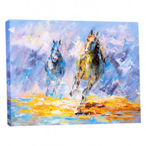 Tablou Canvas Efect Pictura - Cai Galopand