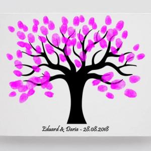 Tablou Canvas Finger Print Tree Flow