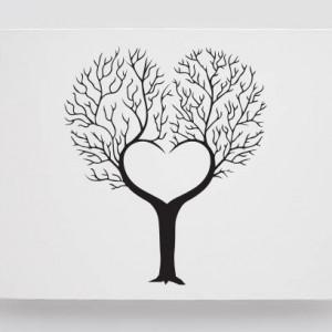 Tablou Canvas Finger Print Tree Royal