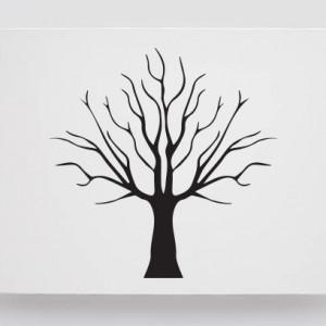 Tablou Canvas Finger Print Tree Simplu