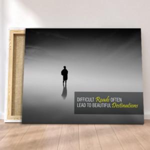 Tablou Canvas Motivational - Difficult Roads