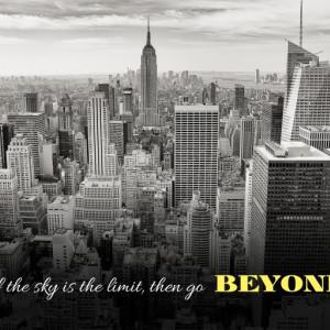 Tablou canvas motivational - Go Beyond