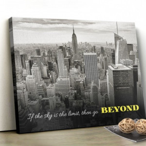 Tablou canvas motivational - Go Beyond
