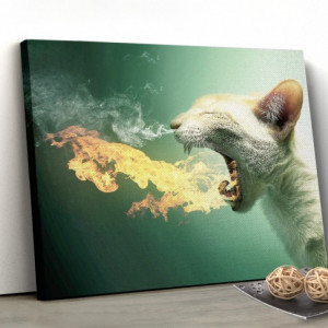 Tablou canvas - Throwing fire