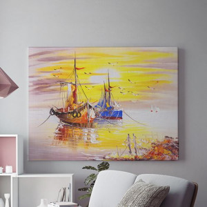 Tablou Canvas Vapoare la rasarit