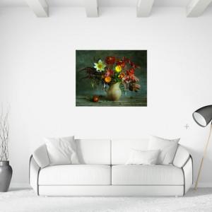 Tablou canvas - Vaza flori de toamna