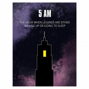 Tablou motivational - 5 AM (english)
