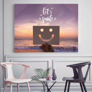 Tablou motivational - Let's smile!