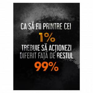 Tablou Motivational - Sa Fii Printre Cei 1%