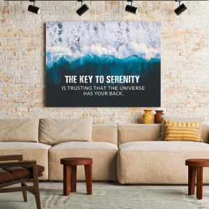 Tablou motivational - The key to serenity