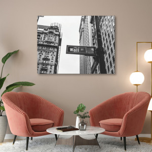 Tablou office - Wall street sign