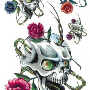 Tatuaj temporar -Cap de Craniu- 17x10cm