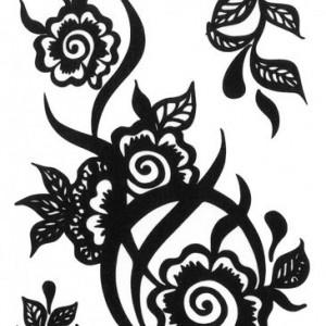 Tatuaj Temporar Flori Pictate 10x17cm