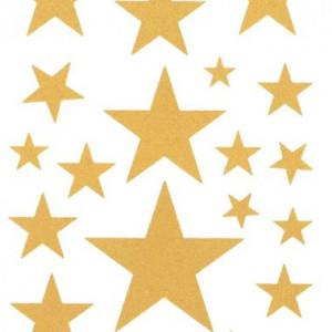 Tatuaj temporar golden stars 17x10cm