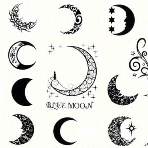 Tatuaj temporar -Luna-Diverse-forme- 15x11cm