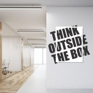 Think ouside the box tablou si sticker