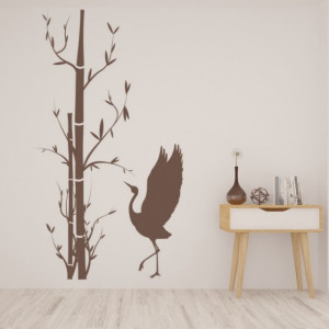 Bamboo Tree And Bird