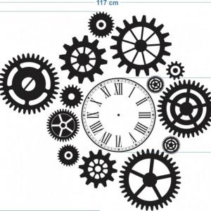 Ceas decorativ cu rotite