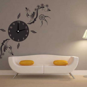 Ceas decorativ multifloral
