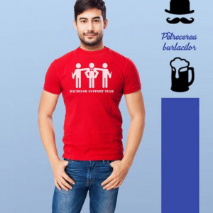 Imprimeu tricou BACHELOR SUPPORT TEAM