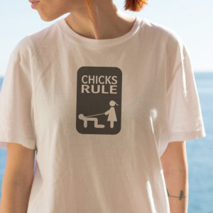 Imprimeu tricou CHICKS RULE