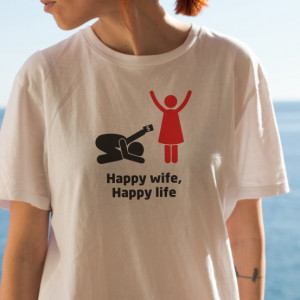 Imprimeu tricou HAPPY WIFE