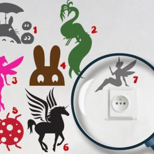Pachet Stickere pentru Prize - Creaturi Magice (Camera Fete)