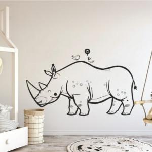 Rinocer cu pasari